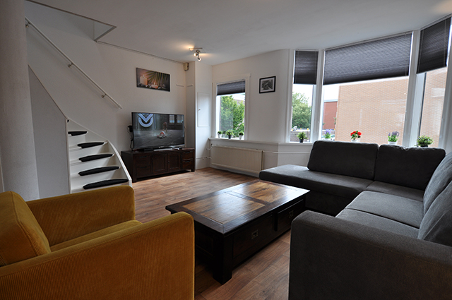 For rent furnished three room house on the Archimedesplein in Schiedam.